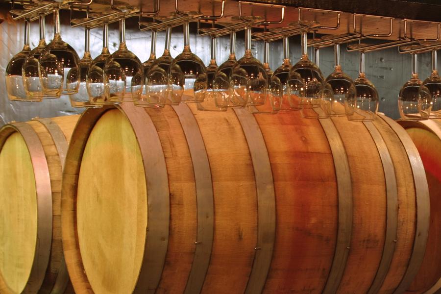 tasting room barrels