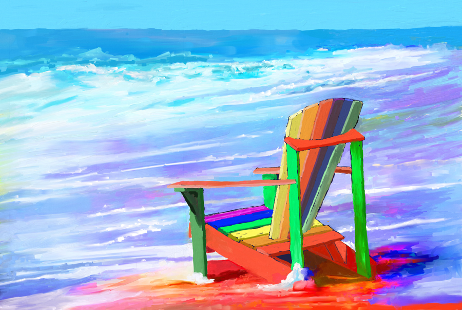 Colorful Beach Chair